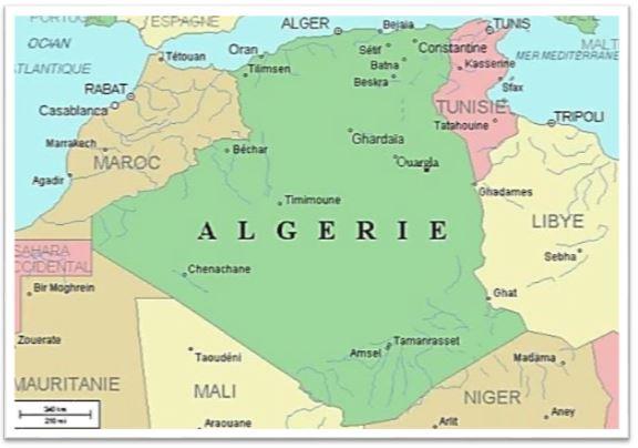 Carte Algerie Mauritanie.Ministere De L Energie Algerie